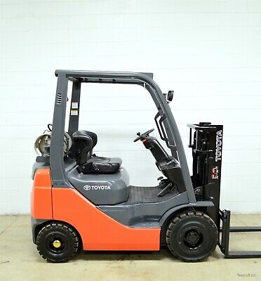 Clean! 2010 Toyota 3000 Lb Lpg Pneumatic Forklift 3,000 Lb 8Fgu15 Air Tires