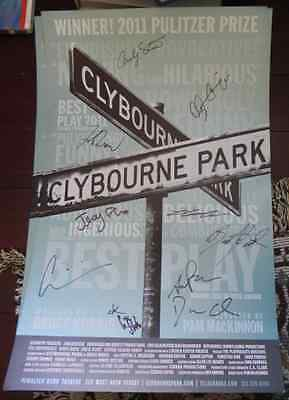 Clybourne Park  SIGNED AUTOGRAPHED cast windowcard Broadway BEST PLAY 2012