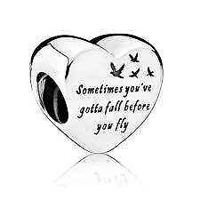 Genuine Pandora sterling silver S925 ALE  Heart of Freedom  Charm