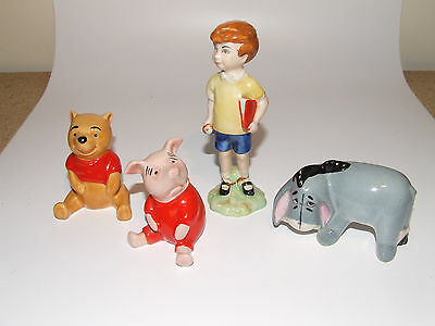BESWICK WINNIE THE POOH SET Christopher Robin, Eeyore, Piglet (See Description)