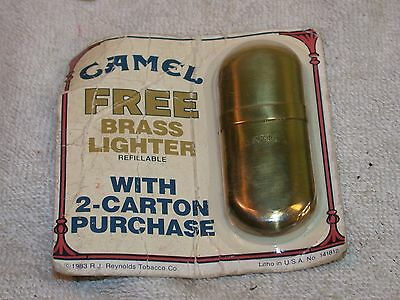 Vintage Camel Brass 1983 Lighter Free w/ 2-Carton Purchase Original Packaging