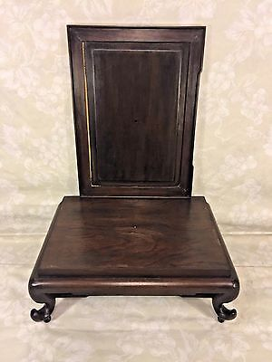 Vintage Asian Display Stand of Wood Nicely Detailed Legs