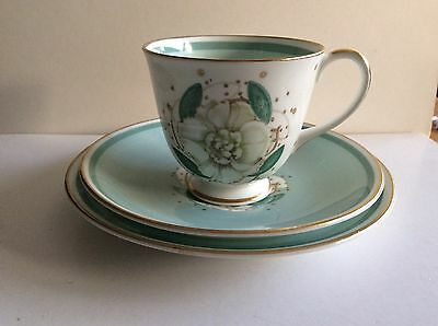 Susie Cooper Bone China,Gardenia Trio;Cup,Saucer,Side Plate