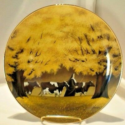 Lowell Herrero Catholic Nun & Holstein Cows Collector Plate Heading for Home