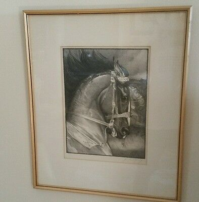 BEAUTIFUL Vintage Signed George Ford Morris Lithograph Job's War Horse