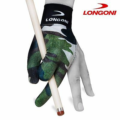LONGONI Billiard POOL CUE GLOVE Fancy Military 3 for Left hand + FREE SHIPPING!