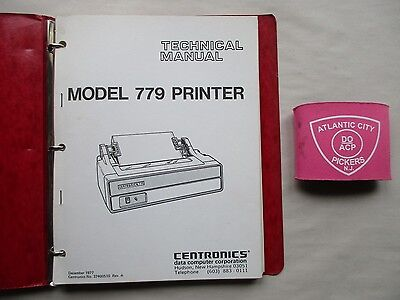 Centronics Model 779 & P1/s1 Printer Technical Manual 37400510 37400540 37400571