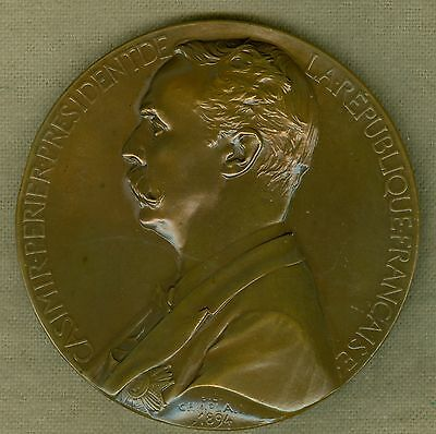 1894 French Medal to Honor Casimir Perier, President, by J.C. Chaplain