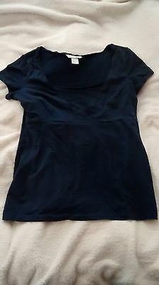 Navy Blue Maternity And Breastfeeding Top H&M Size S
