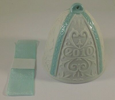 2010 Lladro Beautiful Porcelain Annual Bell Ornament Made In Spain