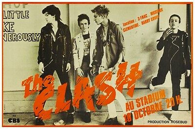 the Clash POSTER **LIVE IN FRANCE** Amazing Pic Joe Strummer Mick Jones *LARGE*