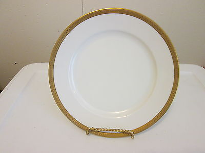 "Royal Bayreuth ROB146 Gold Encrusted 9-1/2"" Dinner Plate"