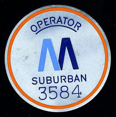 New York City Transit Suburban Line Operator Badge # 3584