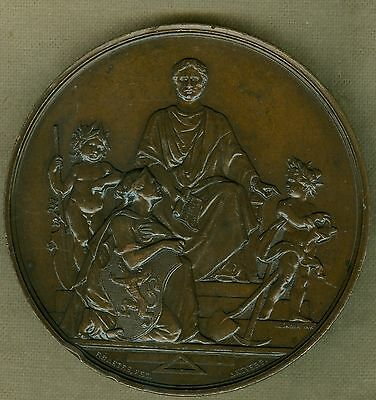 1883 Belgium Medal Issued for the 34th Year Anniversary of Dutch King Willem III