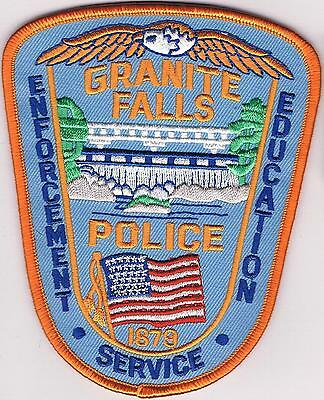 Granite Falls Police Enforcement Education Police Patch Minnesota MN NEW