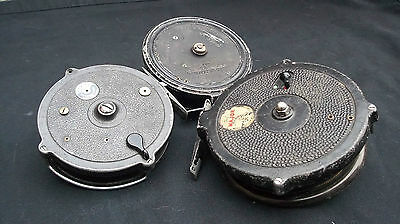 Centrepin Fishing Reels X 3. Vintage. Jw Young, The Major, Wr Products. Vgwo.