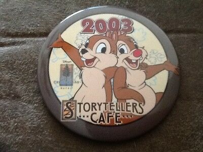Grand Califorian Hotel Storytellers Cafe 2003 Disney Chip & Dale button pin