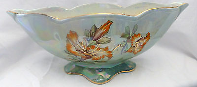 Beautiful Royal Winton  footed floral lustre ware vase or planter