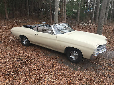 1971 Chevrolet Chevelle Chevelle Convertible 1971 CHEVELLE CONVERTIBLE # MATCHING SOLID FLOOR TRUNK RUNS PROJECT CONV NR NJ
