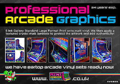 Custom Bartop Arcade Artwork Vinyl Graphics