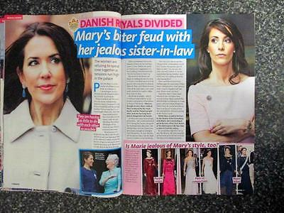 Princess Mary Prince Frederik  Danish Royalty 2 Pg  Magazine  Photo  Jan 2017
