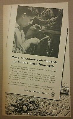 1948 Bell Telephone System More Farm Calls Ad