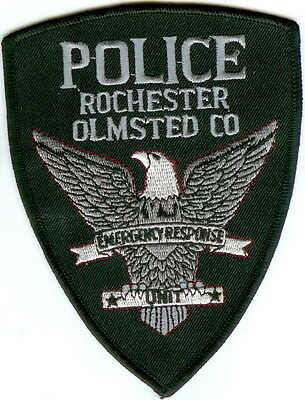 Rochester Olmsted Police Emergency Response Police Patch Minnesota MN NEW