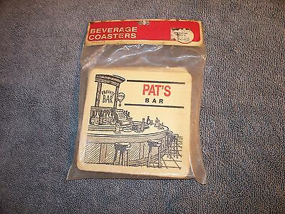 Personalized Beverage Coasters Pat's Bar Made In Usa