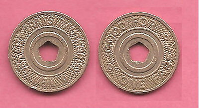 USA American New York City Transit Authority Good for One Fare travel token.