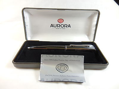 AURORA BALLPOINT PEN – GUNMETAL – NEW OLD STOCK -Free Standard Shipping
