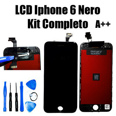 Touch Screen Lcd Display Retina Schermo Vetro per Apple IPHONE 6 Nero AAA+ Kit