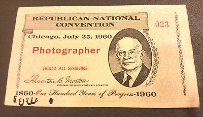 1960 Republican National Convention, Photographer Pass 023
