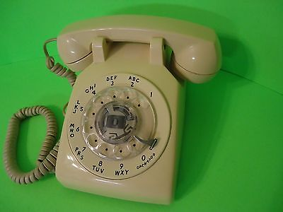 1959 Bell System Tan Rotary Telephone Phone Western Electric 500