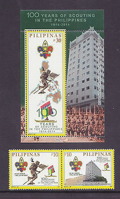 Philippines Stamps 2014 MNH Philippine Boy Scouts Centenary complete set