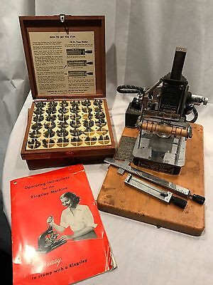 Kingsley Hot stamping machine + Extras