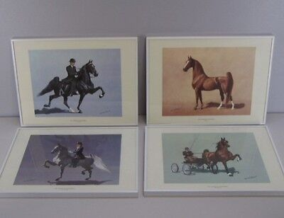 AMERICAN SADDLEBRED SADDLE HORSE 4 Framed Art Prints by WALTER BROWN from 1978