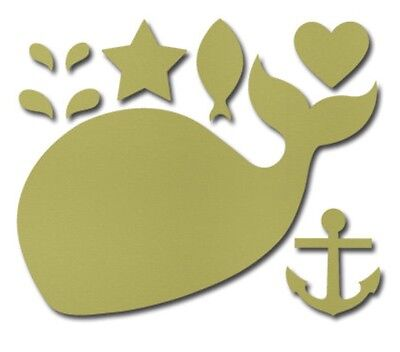 Stampin Up Big Shot Sizzix Clearlits Happy Whale Mini Anchor Spout Die Nautical