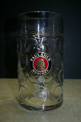 Original German 'paulaner Munchen' 1 Litre Glass Beer Stein