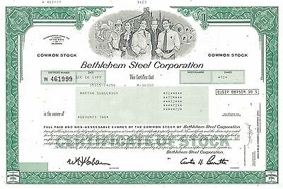 Bethlehem Steel Corporation   manufacturer industrial stock certificate