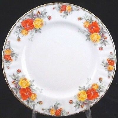 """PACIFIC ROSE Royal Albert Bread & Butter 6.25"""" Bone China NEW NEVER USED England"""