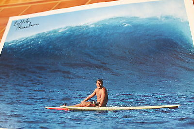 Buffalo Keaulana AUTOGRAPHED vintage Hawaii Life Guard Surfing 13x18in. POSTER