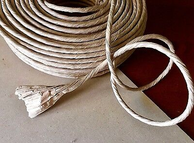 3m x 5mm Thick Paper Rope 1ply Natural Brown Twisted Kraft Cord Fibre Rush Craft