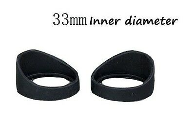 2PCS Rubber 33mm Inner Diameter Microscope Eyepiece Eye Guards Cups Shield