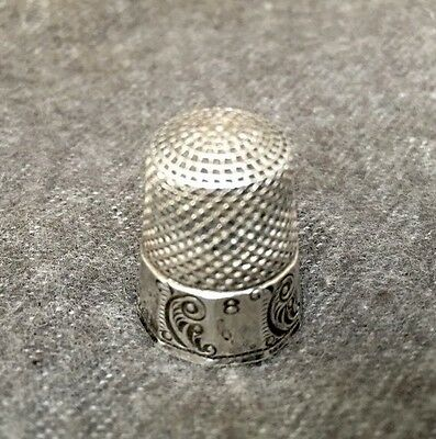 Vintage KETCHAM & McDOUGALL sterling silver scroll thimble