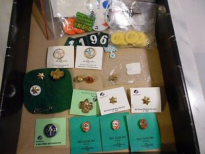 20+ Girl Scout Pins First Class Challenge Emergency The Arts Star TreFoil