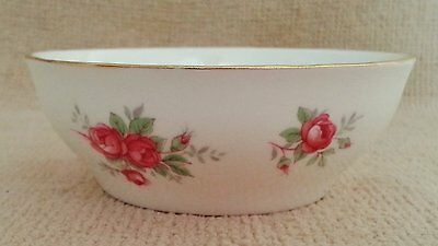 Crown Staffordshire Sweetheart Rose Open Sugar Bowl~White, Pink