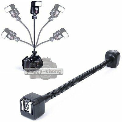 TTL Off-Camera Hot Shoe Flash Cord 360 Degree Flexible Arm Bracket Fr Nikon DSLR