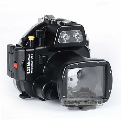 Meikon 40m 130ft Waterproof Underwater Housing Case Bag Cover For Canon EOS M