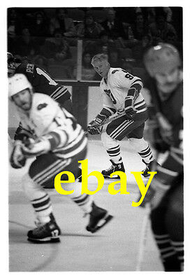 GORDIE HOWE 1980 original 35mm black and white negative HARTFORD WHALERS hockey