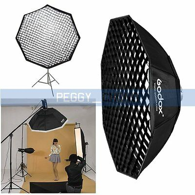 Godox SB-FW 140cm Grid Octagon Softbox Bowens Mount for Studio Flash Strobe【US】